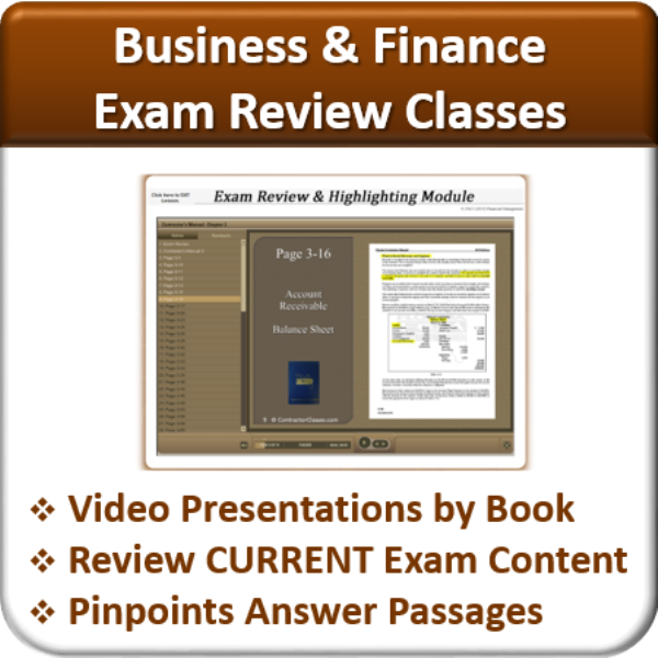 Exam Review (Business & Finance)