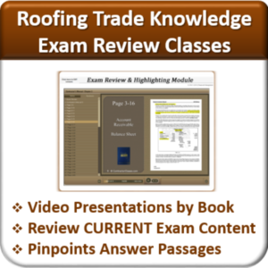 Contractor Classes Roofing Exam Review
