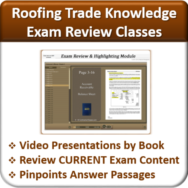 Exam Review (Roofing Trade Knowledge) Sc 1 St Contractor Classes Sc 1 St  Memphite.com