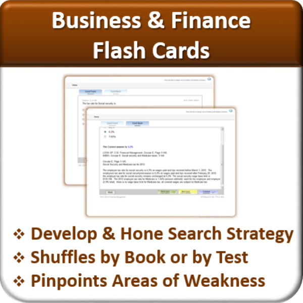 Flash Cards (Business & Finance)