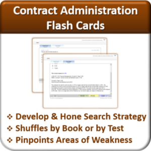 Contractor Classes Contract Administration Flash Cards