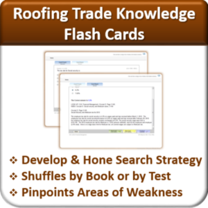 Contractor Classes Roofing Flash Cards