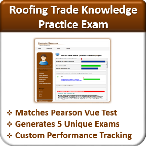 Practice Exams Roofing Trade Knowledge Contractor Classes