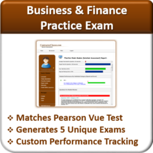 Contractor Classes Business & Finance Practice Exam