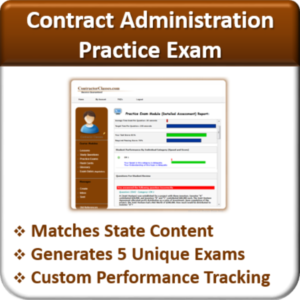 Contractor Classes Contract Administration Practice Exam