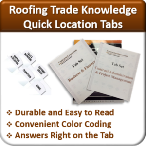 Contractor Classses Roofing Quick Location Tabs