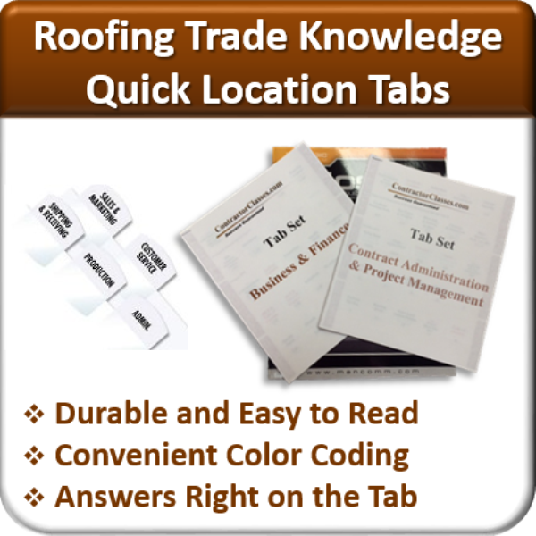 Awesome Quick Location Tabs (Roofing Trade Knowledge)