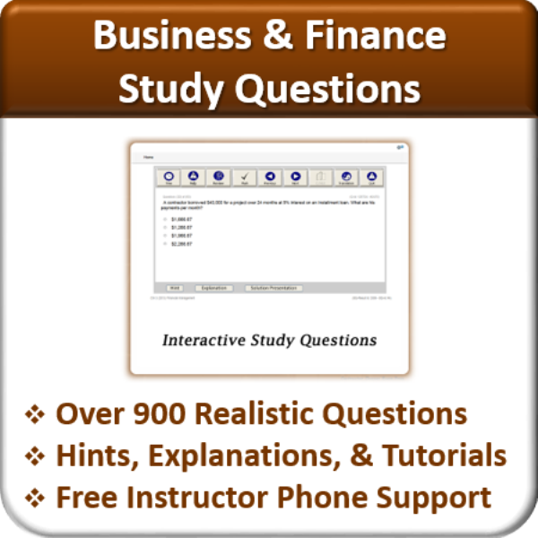 Study Questions (Business & Finance)