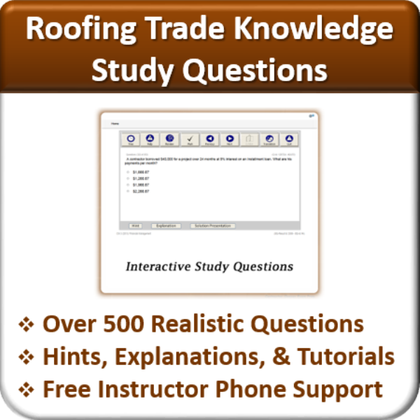 Perfect Study Questions (Roofing Trade Knowledge)