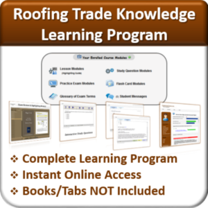 Contractor Classses Roofing Learning Program