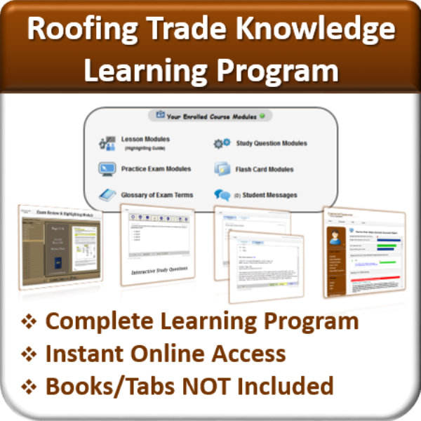 Learning Program Package (Roofing Trade Knowledge)